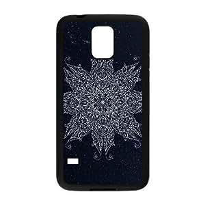 Generic for Samsung Galaxy S5 Cell Phone Case Black White Mandala Custom HLFDKFFKD2449