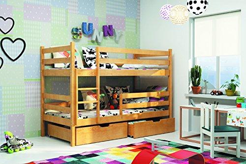 Etagenbett Für 2 Kinder : Nue hochbett eryk 2 etagenbett 185 80 erle fur zwein kinder mit