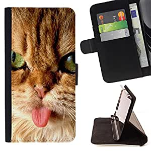 - Kitten Cat Pet Cute - - Premium PU Leather Wallet Case with Card Slots, Cash Compartment and Detachable Wrist Strap FOR LG OPTIMUS L90 King case