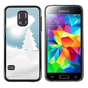 LECELL -- Funda protectora / Cubierta / Piel For Samsung Galaxy S5 Mini, SM-G800, NOT S5 REGULAR! -- Winter Snowy Christmas Forrest --