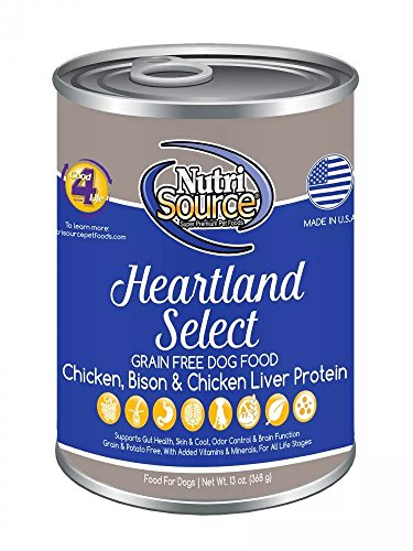 Tuffys 131003 Nutrisource Grain Free Canned Heartland Dog Food, Case Of 12 (13 Oz)