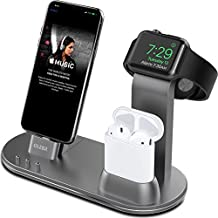 OLEBR Apple Watch Stand Apple Watch Charging Stand AirPods Stand Charging Docks for Apple Watch Series 3/2/1/AirPods/iPhone X/8/8Plus/7/7 Plus/6S/6S Plus/iPad-Space Gray