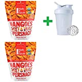 Made in Nature, Organic Mangoes Sweet & Tangy Supersnack, 8 oz (227 g) (2 Packs) + Assorted Sundesa, BlenderBottle, Classic With Loop, 20 oz