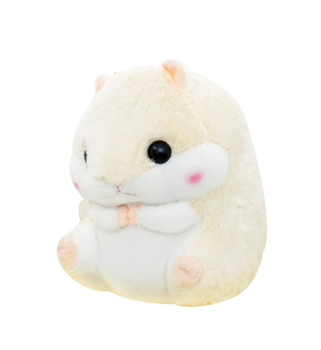 Crazy lin Baby Kids Animals Stuffed Doll Soft Plush 1 Hamster Throw Pillow with 1 Blanket (Hamster:15.811.8 inch, Yellow)