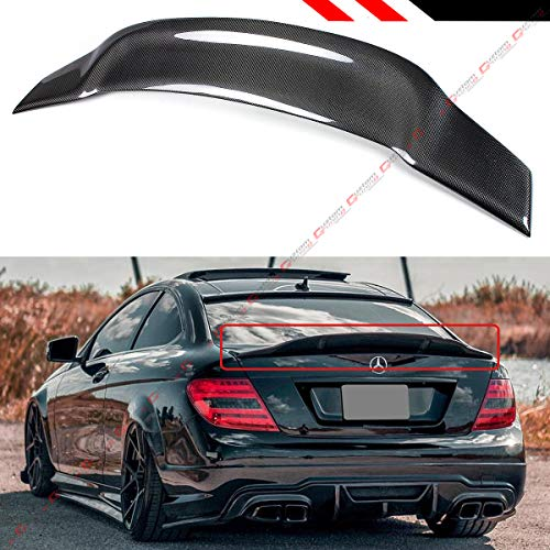Cuztom Tuning Fits for 2008-2014 Mercedes Benz W204 C250 C300 C63 AMG C-Class 4 Door Sedan Carbon Fiber Duckbill Highkick Trunk Spoiler Wing ()