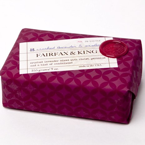 Fairfax Bar (Fairfax & King by Found Goods Market Bar Soap 9 oz, Crushed Lavender & Violet)