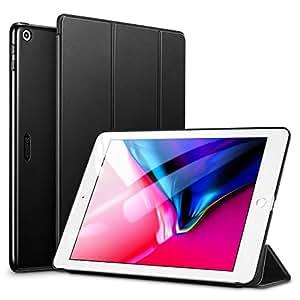 """ESR Funda para iPad 2017/Nuevo iPad 2018 de 9.7"""" Silicona [Auto-Desbloquear] [Botones Protegidos] Función de Soporte de Cuero Sintético y Plástico Duro Smart Cover para Apple 9.7"""" 2017/2018-Negro"""