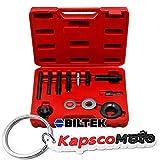 Biltek Automotive Pulley Puller Remover Installer Power Steering Pump Alternator Pulley + KapscoMoto Keychain