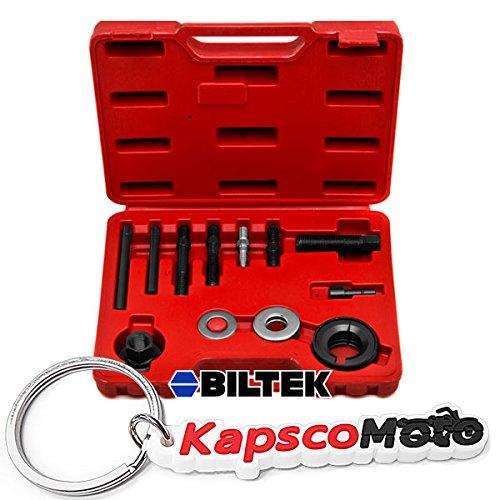 Biltek Automotive Pulley Puller Remover Installer Power Steering Pump Alternator Pulley + KapscoMoto - Steer Power Pulley
