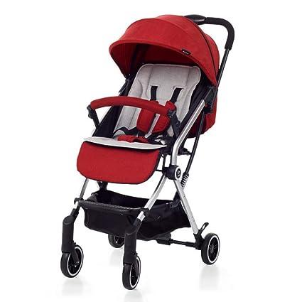 Meen Cochecito de bebé,Ligero Plegable Ultra Ligero para niños Mini Cochecito Verano luz Paraguas