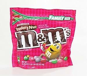 Limited Edition Strawberry Nut M&Ms Family Size Bag 18.4oz(1lb 2.4 OZ)
