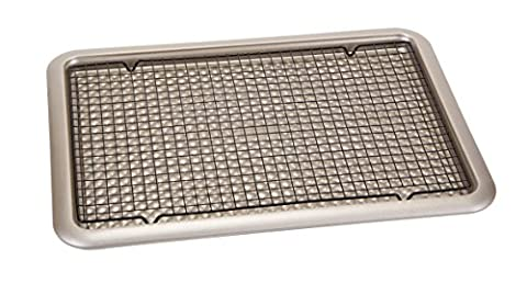 Art and Cook Carbon Cooking Tray with Stainless Steel Cooling Rack, Champagne