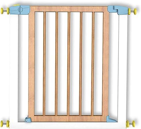 Barreras para puertas y escaleras Puerta de seguridad para niños Madera maciza Barandillas de escalera Valla para mascotas Puerta de aislamiento para valla de perro Ancho de puerta adecuado 75-81cm 74: Amazon.es: