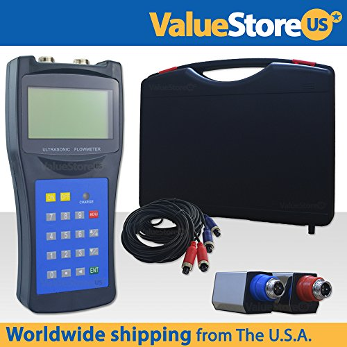 Portable Digital Ultrasonic Flow Meter USF-100 with S Transducers for Pipes from 0.76 to 3.9 inch (20 to 100 mm) & from -40°F to 320°F (-40°C to - Ultrasonic Meter Flow Portable