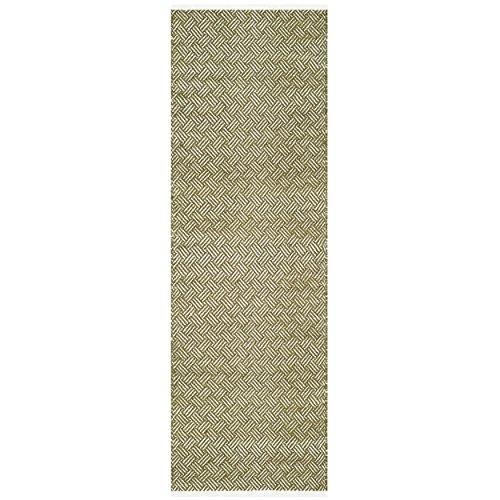 Safavieh Boston Collection BOS680B Handmade Olive Cotton Runner (2'3