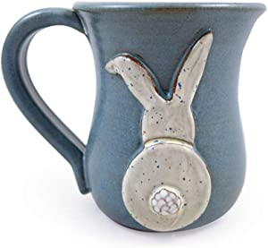 Bunny Butt Mug - American Handmade Stoneware Pottery, 14-oz