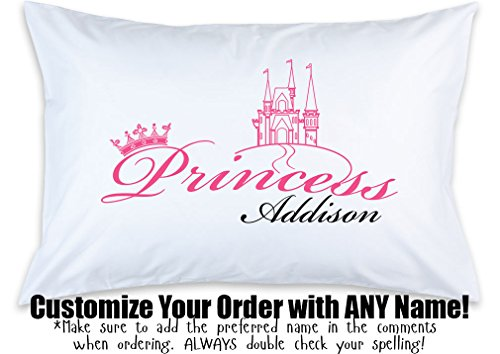 - Personalized Children's Pillow Case, Princess, Custom Printed, Little Girl Pillowcase, Birthday, Kid's Bedroom, Toddler Room, Baby Room