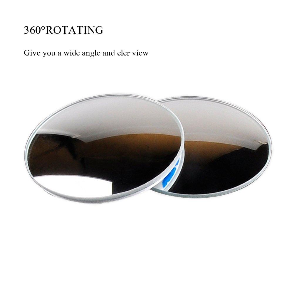 360/°drehbare quadratische Seitenansicht der Auto-Seiten-konvexen Spiegeln wasserdichtes Glas f/ür Auto Toter Winkel Spiegel ,E-db Panoramaspiegel Weitwinkel Spiegel