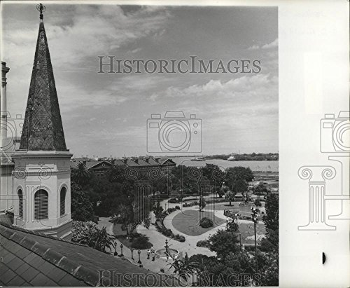 Photo Real View Birdseye - Vintage Photos Historic Images 1976 Press Photo Orleans Jackson Square Birds Eye View Jackson Square. - 8.25 x 10 in