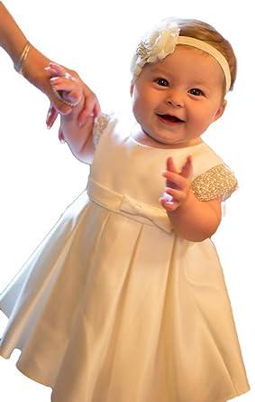 ShineGown - Ropa de Bautizo - para bebé niña Marfil 6-9 ...
