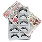 Dionshop 5 Pair/Lot Black Crisscross False Eyelashes Voluminous Lashes