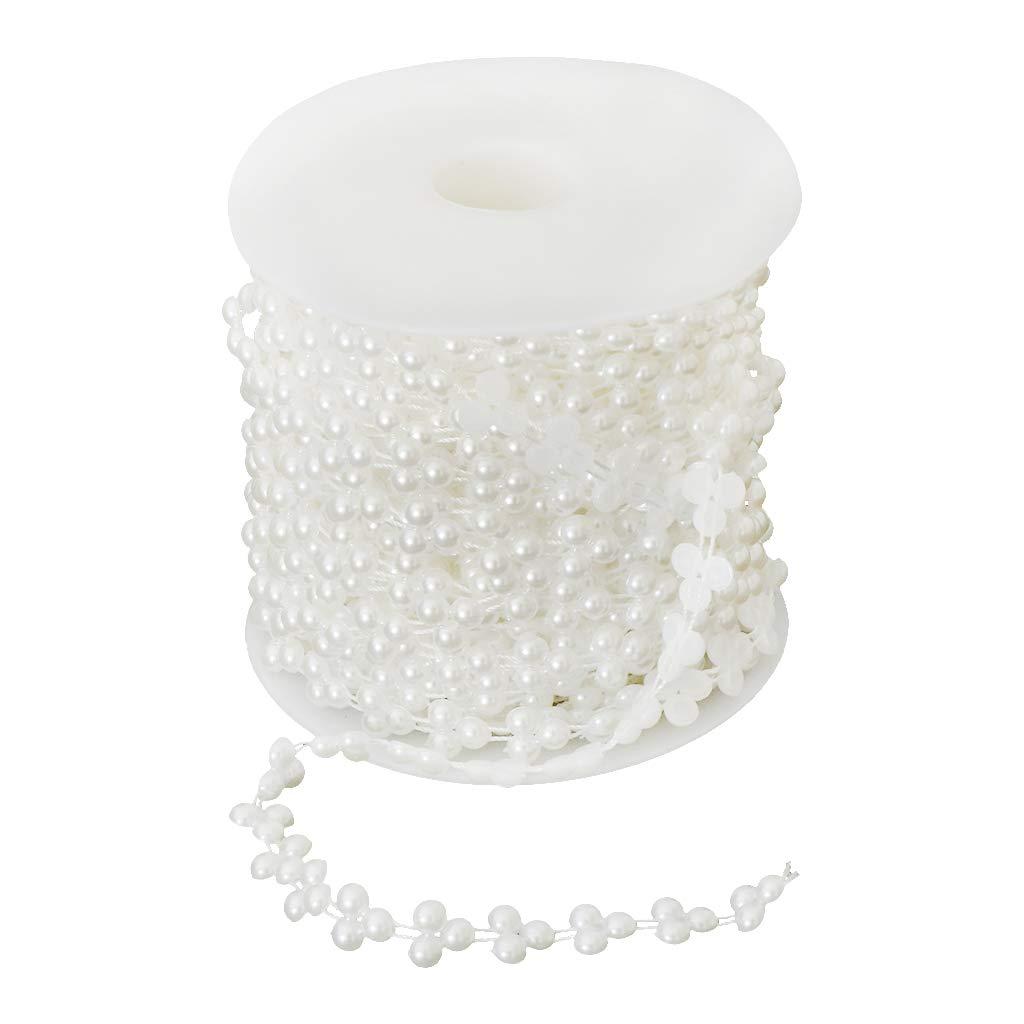Beige perfeclan 15M Halbrund Perlengirlande Perlenband Perlenkette Perlenschnur Perlen Dekokette zum Basteln N/ähen und Schnitten