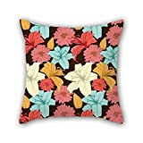 NICEPLW flower cushion covers ,best for relatives,teens girls,kitchen,monther,bar,sofa 16 x 16 inches / 40 by 40 cm(double sides)