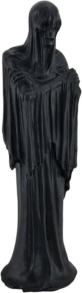 Zeckos Death's Shadow Creepy Grim Reaper Skeleton in Shroud Statue 12 in.