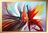 Seekland Art Hand Painted Large Abstract Canvas Wall Art Decor Modern Oil Painting Contemporary Artwork for Decoration 72''W x 48''H