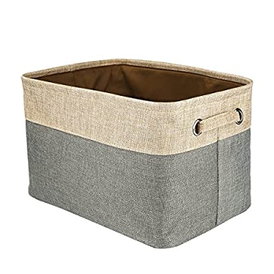 Foldable Convenient Storage Box Organizing Basket Closet Organizer with Handles, Cotton & Jute - Foldable basket size: 15x10.6x9.4 inch Features sturdy handles for easy transport, portable, lightweight and durable. The storage organizer material is Cotton & Jute, save on space when not in use and fold flat for easy storage . - living-room-decor, living-room, baskets-storage - 51mB76nJWaL. SS400  -