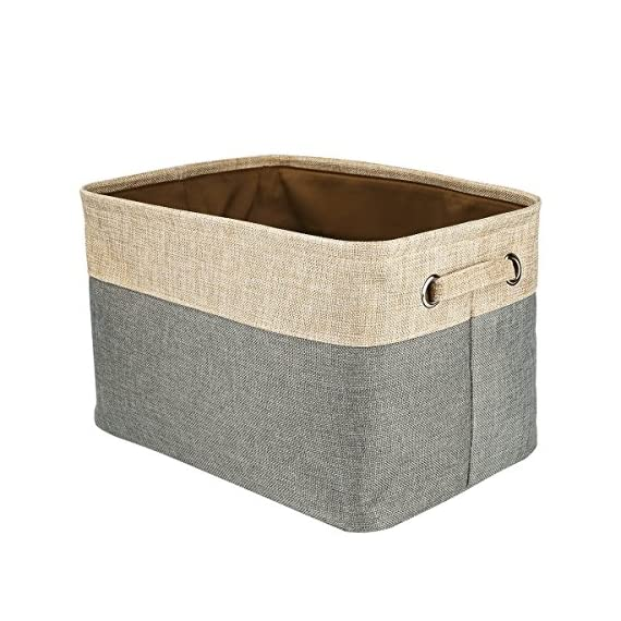 Foldable Convenient Storage Box Organizing Basket Closet Organizer with Handles, Cotton & Jute - Foldable basket size: 15x10.6x9.4 inch Features sturdy handles for easy transport, portable, lightweight and durable. The storage organizer material is Cotton & Jute, save on space when not in use and fold flat for easy storage . - living-room-decor, living-room, baskets-storage - 51mB76nJWaL. SS570  -