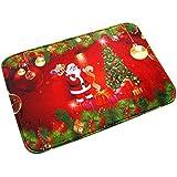 Badematte Clode® Weihnachten HD Printed Non-Slip Badematte Absorbent Wasserdicht Home Decor (A)