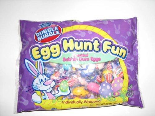 Dubble Bubble Egg Hunt Fun Speckled Bubble Gum (Fun Gums)