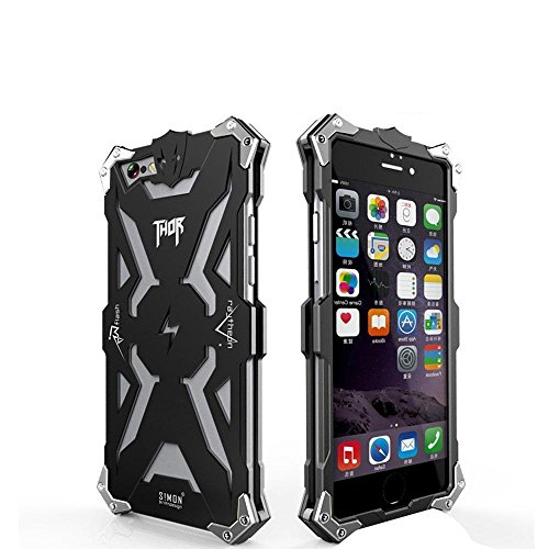 Iphone 6 6s Case, Lwang Aviation Aluminum Anti-scratch Strong Protection Metal Case for Iphone 6 6s , Hollow Design Full Signal Iphone 6 6s Thor Case (thor black)