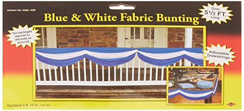 [Oktoberfest Fabric Bunting (blue & white) Party Accessory  (1 count) (1/Pkg)] (Oktoberfest Costumes Party City)