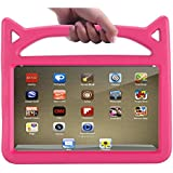 Fire HD 8 Case,Fire 8 Kids Case-APLPJYR Kids Shock Proof Light Weight Protective Stand Cover Handle Fire HD 8 Tablet (All-New Fire HD 8 (7th 2017/6th 2016) Rose) (Rose)