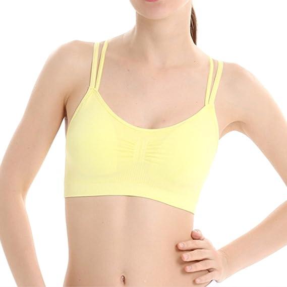 Xinvision Mujer Sujetador Deportivo Secado Rápido Deportes de Alta Intensidad Workout Yoga Tank Top Active Wear: Amazon.es: Ropa y accesorios