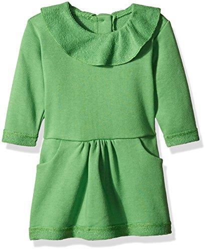 - Zutano Baby Girls' French Terry Ruffle Drop Waist Dress, Apple, 6 Months