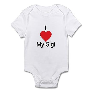 be8cdf17a Amazon.com  CafePress I Love My Gigi Body Suit Baby Bodysuit  Clothing