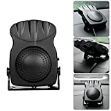 Junda Portable Car Heater Fast Heating Quickly Defrosts Defogger with 3-Outlet, Suitable for 12V 150W Auto Car, Black