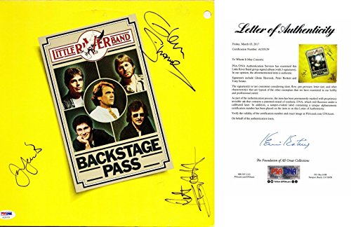 The Little River Band Signed - Autographed Vinyl Album Cover with FULL Letter of Authenticity signed by Glenn Shorrock - PSA/DNA Certified -