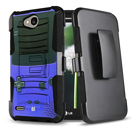 LG X Power 2, LG Fiesta LTE, LG X Charge, K10 Power Case, Trishield Gear Durable Hybrid Rugged Armor Phone Cover With Built In Kickstand And Belt Clip Holster For LG LV7 – Game Controller Boy Review