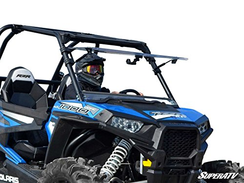SuperATV Heavy Duty Scratch Resistant 3-IN-1 Flip Windshield for Polaris RZR XP 1000 / XP 4 1000 (2014-2018) - Has 3 Different Settings! (Best Atv Trails In Utah)