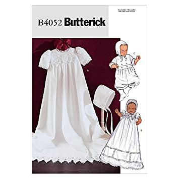 Butterick Schnittmuster 4052 Baby Taufkleid & Overall Gr. S-M-L-XL ...