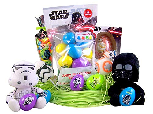 Disney Star Wars Easter Basket Stuffers Kit with Plush Toys, Candy, and Eggs ()