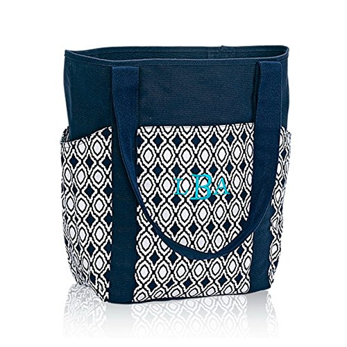 Thirty One Go-To Tote in Navy Perfect Pendant - No Monogram - 6208