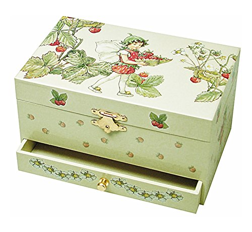 Trousselier Strawberry Flower Fairies Musical Jewellery Box (Music Fairy Box)