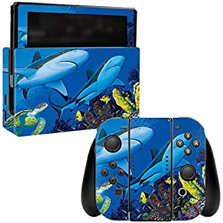 MightySkins Skin Compatible with Nintendo Switch - Shark Buddies | Protective, Durable, and Unique Vinyl Decal wrap Cover | Easy to Apply, Remove, and Change Styles | Made in The USA