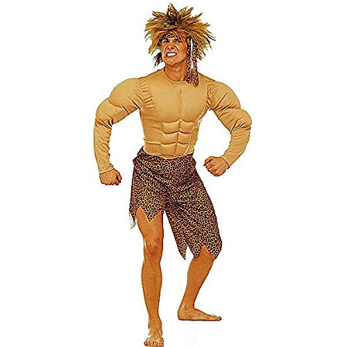 Costume Male Jungle (JUNGLE MAN COSTUME (M) (jumpsuit with muscles)