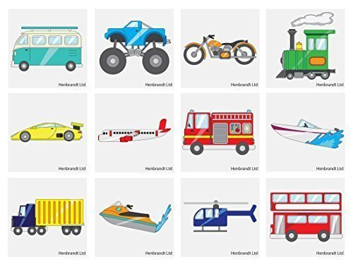 Vehicles Temporary Tattoos Children/'s Birthday Loot Party Bag Filler
